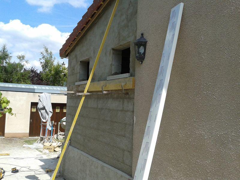 Construction d 39 extension pernay les photos pendant for Extension travaux