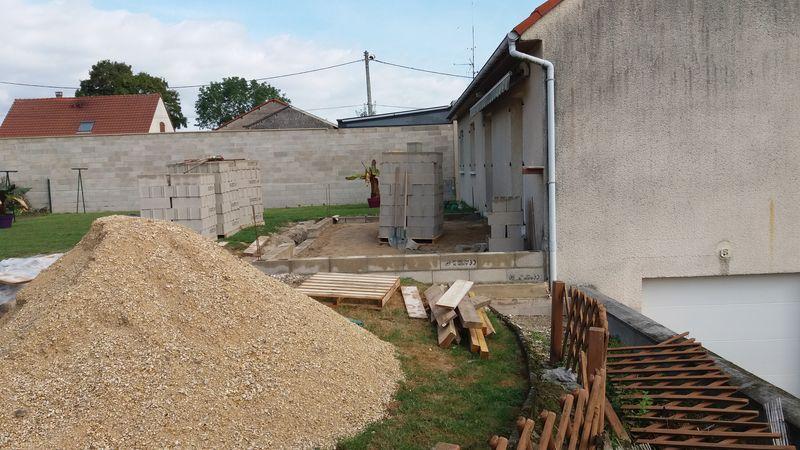 Construction d 39 une extension de maison prosnes pr s de for Extension travaux