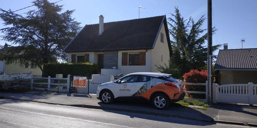 Travaux de rénovation dans une maison à Hermonville